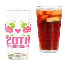 20th Anniversary Gift Pint Glass