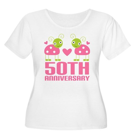 50th Anniversary Gift Women's Plus Size Scoop Neck