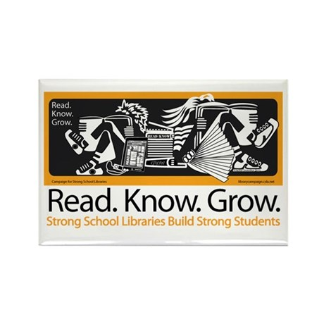 Read.Know.Grow.Libraries. Rectangle Magnet