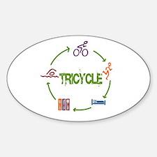 Tri Cycle Sticker (Oval)