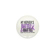 My Battle Too Hodgkin's Lymphoma Mini Button (10 p