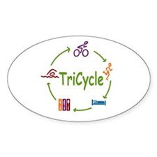 Tri Cycle Decal