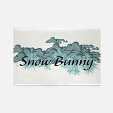 Snow Bunny Rectangle Magnet