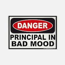 Danger Principal in Bad Mood Rectangle Magnet