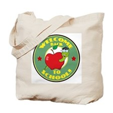 Welcome Back to School Worm Tote Bag
