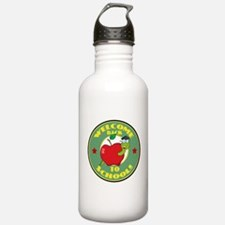 Welcome Back to School Worm Water Bottle