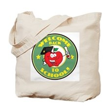 Welcome Back to School Apple Tote Bag