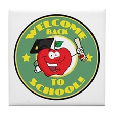 Welcome Back to School Apple Tile Coaster