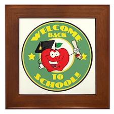Welcome Back to School Apple Framed Tile