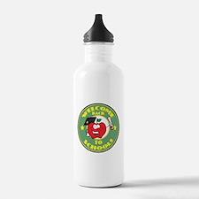 Welcome Back to School Apple Sports Water Bottle