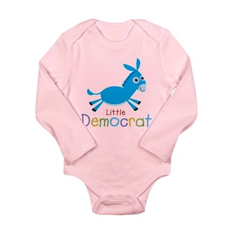 Little Democrat Long Sleeve Infant Bodysuit