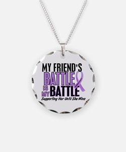 My Battle Too Hodgkin's Lymphoma Necklace
