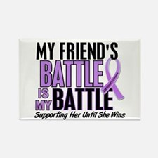 My Battle Too Hodgkin's Lymphoma Rectangle Magnet