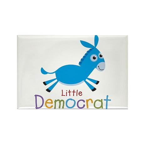 Little Democrat Rectangle Magnet