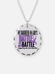 My Battle Too Hodgkin's Lymphoma Necklace