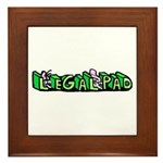 Legal Pad Framed Tile