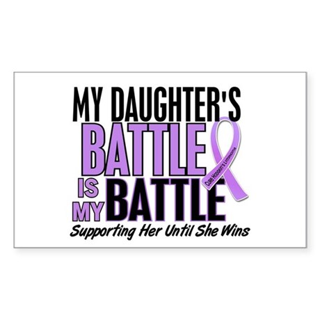 My Battle Too Hodgkin's Lymphoma Sticker (Rectangl