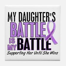 My Battle Too Hodgkin's Lymphoma Tile Coaster