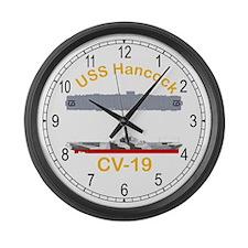USS Hancock CV-19 Large Wall Clock