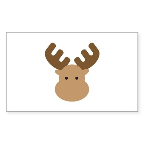 Moose Sticker (Rectangle)
