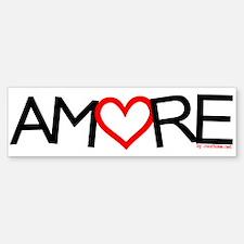 """""""AMORE"""" Bumper Bumper Bumper Sticker"""