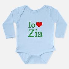 I Love Aunt (Italian) Long Sleeve Infant Bodysuit