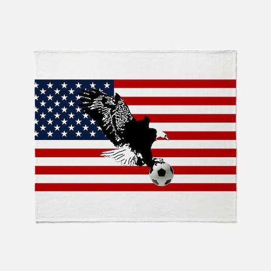 American Eagle Soccer Throw Blanket