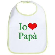 I Love Dad (Italian) Bib