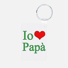 I Love Dad (Italian) Keychains