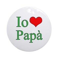 I Love Dad (Italian) Ornament (Round)