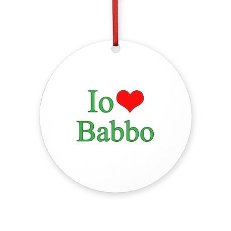 I Love Dad - 2 - (Italian) Ornament (Round)
