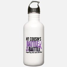 My Battle Too Hodgkin's Lymphoma Water Bottle