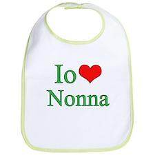 I Love Grandma (Italian) Bib
