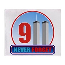 911 WTC Never Forget Throw Blanket