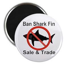 "Ban Shark Fin Sale & Trade 2.25"" Magnet (100 pack)"