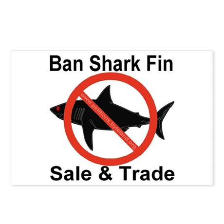 Ban Shark Fin Sale & Trade Postcards (Package of 8