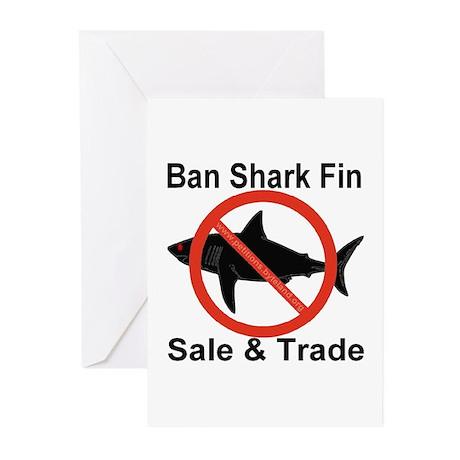 Ban Shark Fin Sale & Trade Greeting Cards (Pk of 1