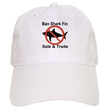 Ban Shark Fin Sale & Trade Baseball Cap