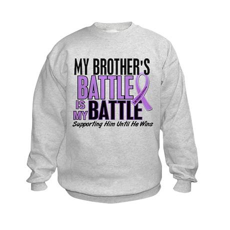 My Battle Too Hodgkin's Lymphoma Kids Sweatshirt