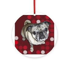 Mod Pug Ornament (Round)