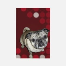 Mod Pug Rectangle Magnet