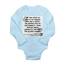 Proust Time Quote Long Sleeve Infant Bodysuit
