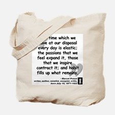 Proust Time Quote Tote Bag