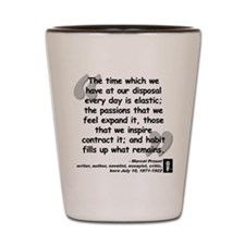 Proust Time Quote Shot Glass