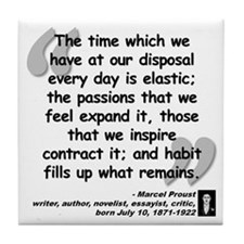 Proust Time Quote Tile Coaster