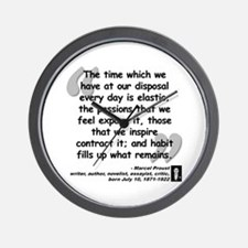 Proust Time Quote Wall Clock