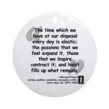 Proust Time Quote Ornament (Round)