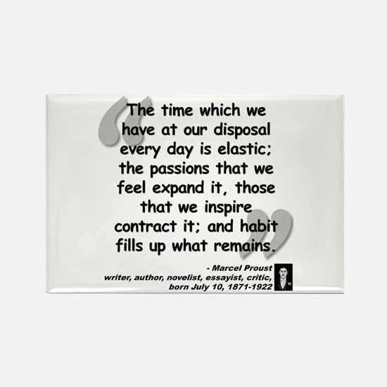 Proust Time Quote Rectangle Magnet