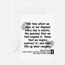 Proust Time Quote Greeting Card
