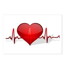 heart beat Postcards (Package of 8)